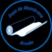 Pose de membrane armée